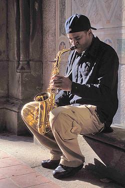 New York City Sax Player