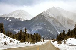 Snowy Twin Peaks, Colorado