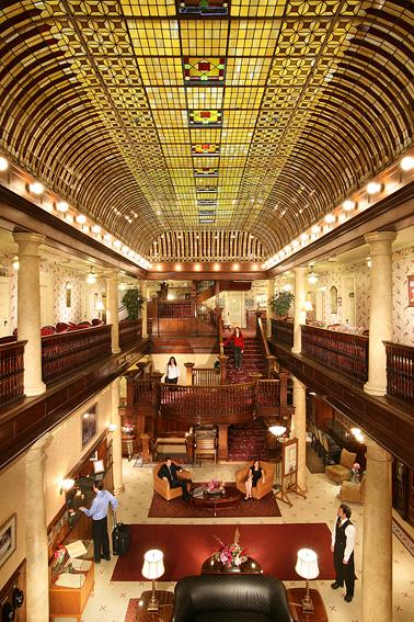 Victorian Hotel's Historic Atrium