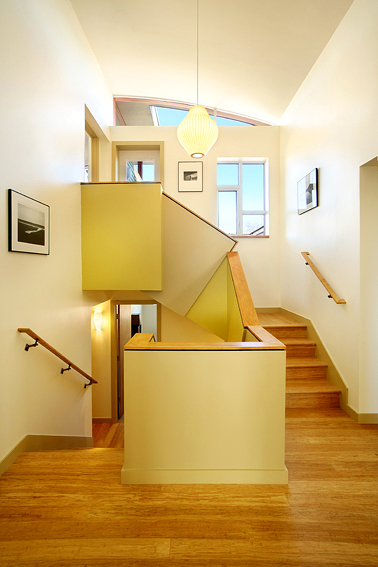 Net Zero Home, Upper Stairwell