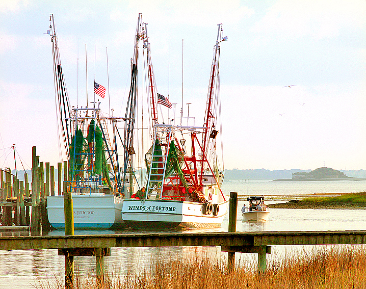 Charleston, SC Shrimp Boats