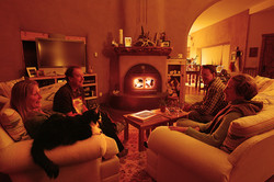 Bed & Breakfast Fireside with Guests