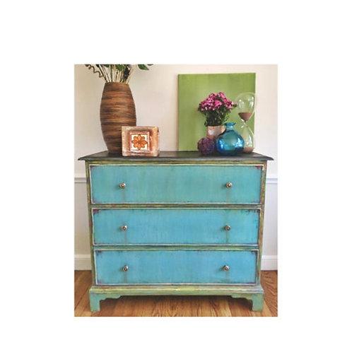Turquoise Sweetheart Dresser
