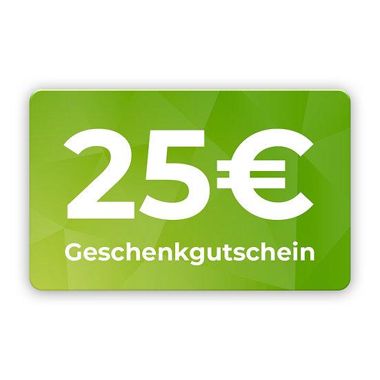 25€ Gutschein zum selbst ausdrucken
