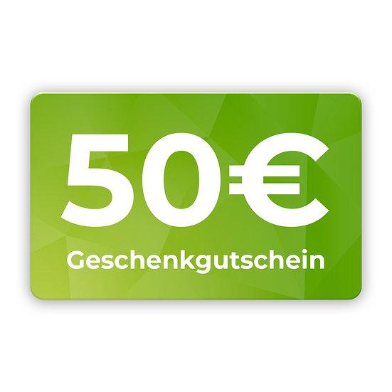 50€ Gutschein zum selbst ausdrucken