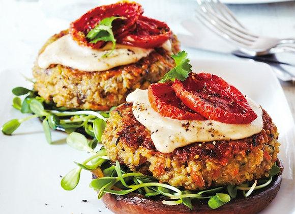 Veggie Burger - Quinoa, Roasted Pepper and Mushroom