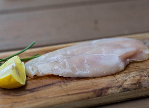 4 oz Chicken - 6 Lbs. Free range, Non-GMO boneless and skinless breasts 4 oz