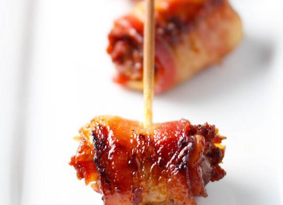 Bacon Wrapped Dates w/ Almonds