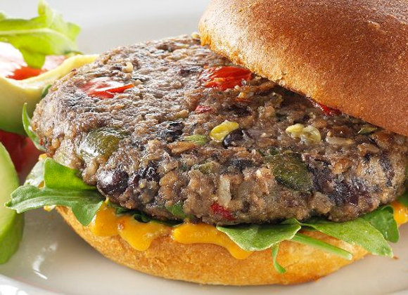 Veggie Burger - Roasted Poblano & Black Bean