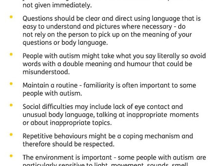 Are you an autistic person who has learning disabilities or someone who supports them?