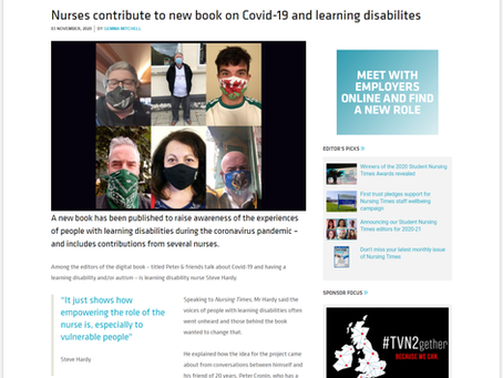 Nursing Times report on 'Peter and friends experience of covid-19'