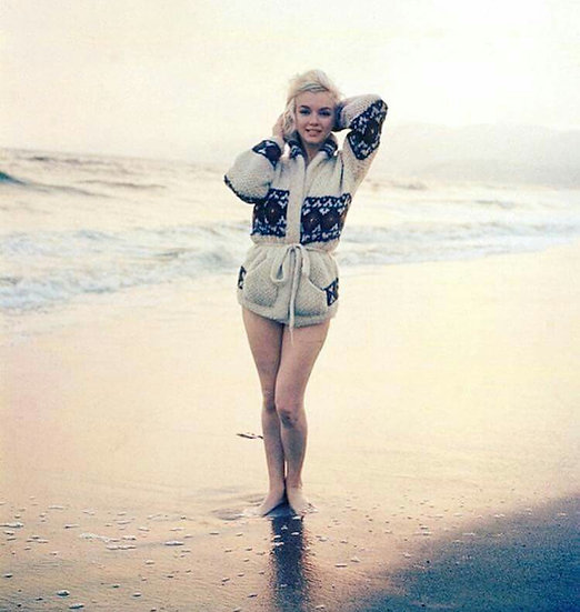 Marilyn Monroe Santa Monica Sunset