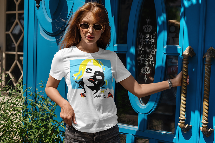 Marilyn Aqua Pop Art  Tee