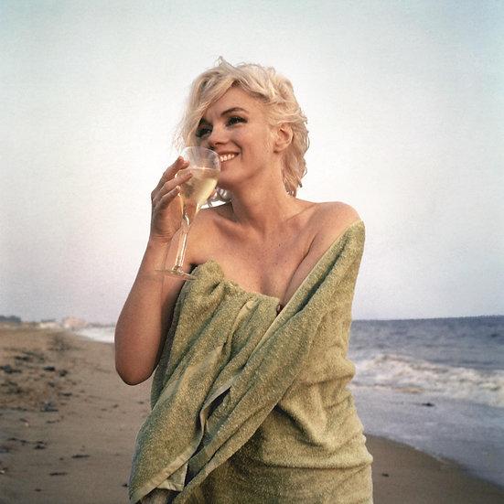 Marilyn Monroe Champagne On The Beach