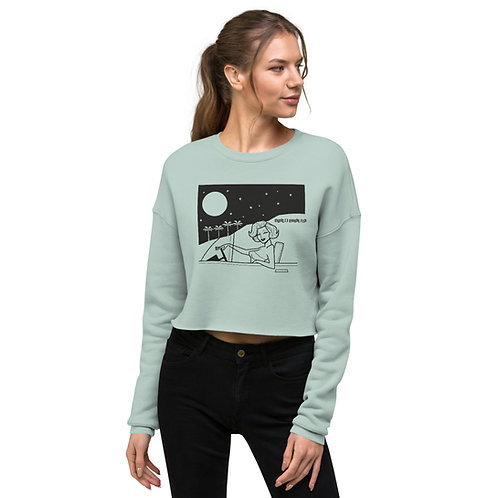 Marilyn Mulholland Moonlighting Crop Sweatshirt