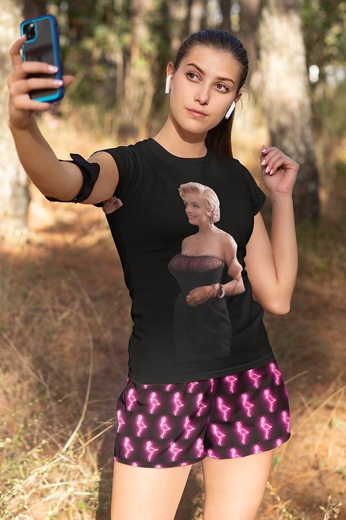 INHOLLYWOODLAND Neon Flamingo Emoji Luxury Shorts Women's Short Shorts