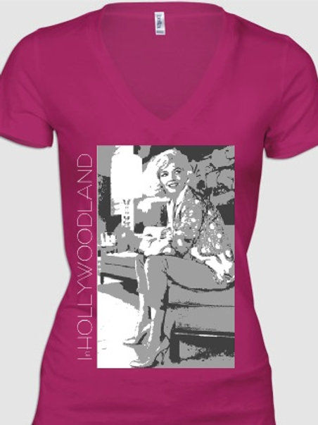 Marilyn Monroe By George Barris Ladies' V-Neck T's
