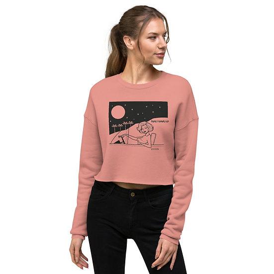 Marilyn Monroe Mulholland Moonlighting Crop Sweatshirt