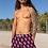 Thumbnail: INHOLLYWOODLAND Men's Neon Flamingo Emoji Luxury Shorts