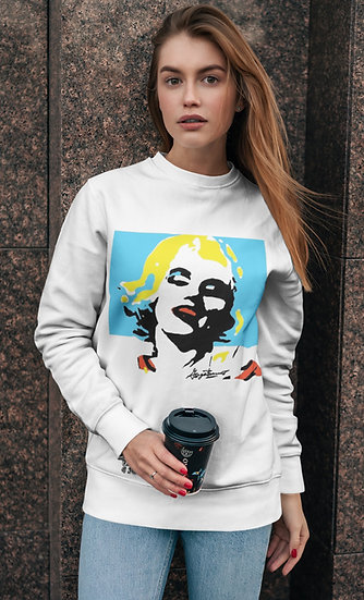 Marilyn Aqua Days Unisex Fleece Pullover