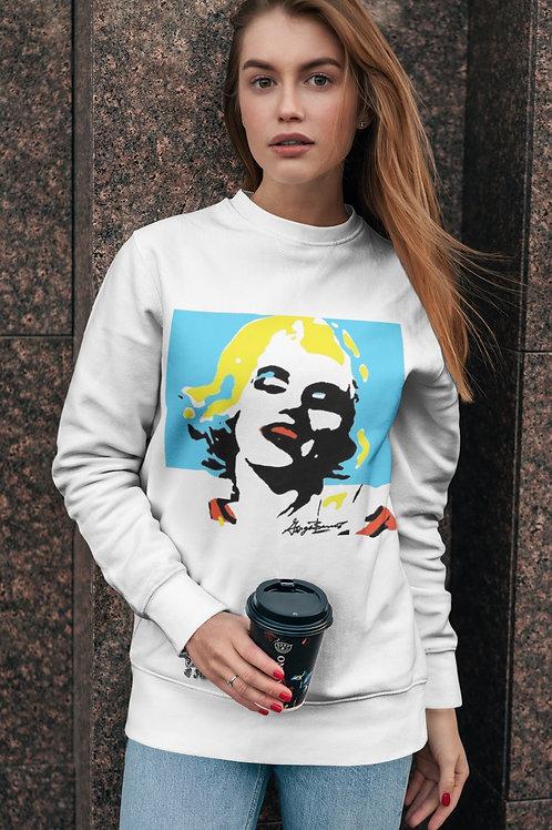 Marilyn Aqua Days Unisex Fleece Pullover