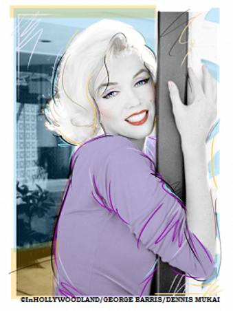 "Marilyn Monroe ""Lavender"" Giclee"