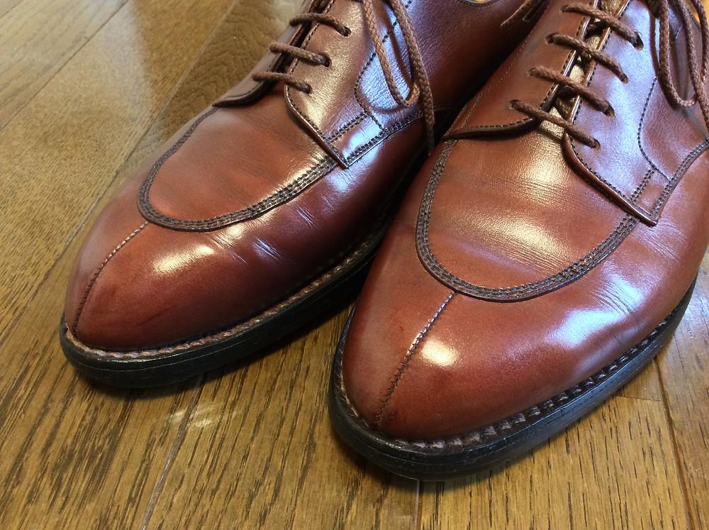 蝶ネクタイ専門店のDIAMOND HAKE流靴磨き