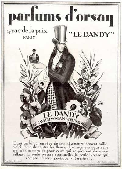 1928年のパルファン・ドルセーの広告