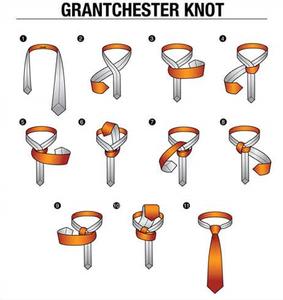 ネクタイの結び方。グランチェスター・ノット