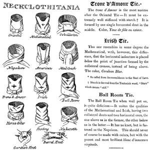ジョージ・クルックシャンクによるネクタイの結び方(1818年)