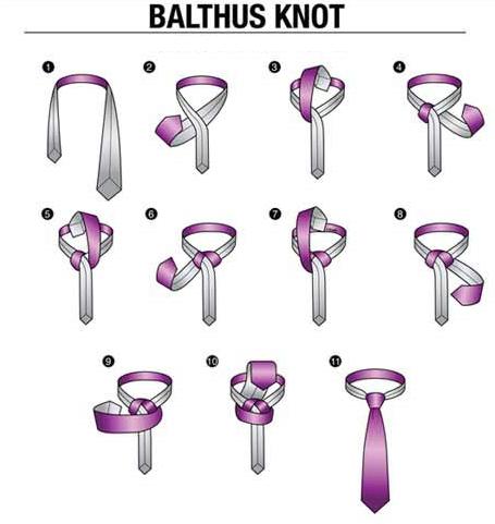 ネクタイの結び方。バルサス・ノット。