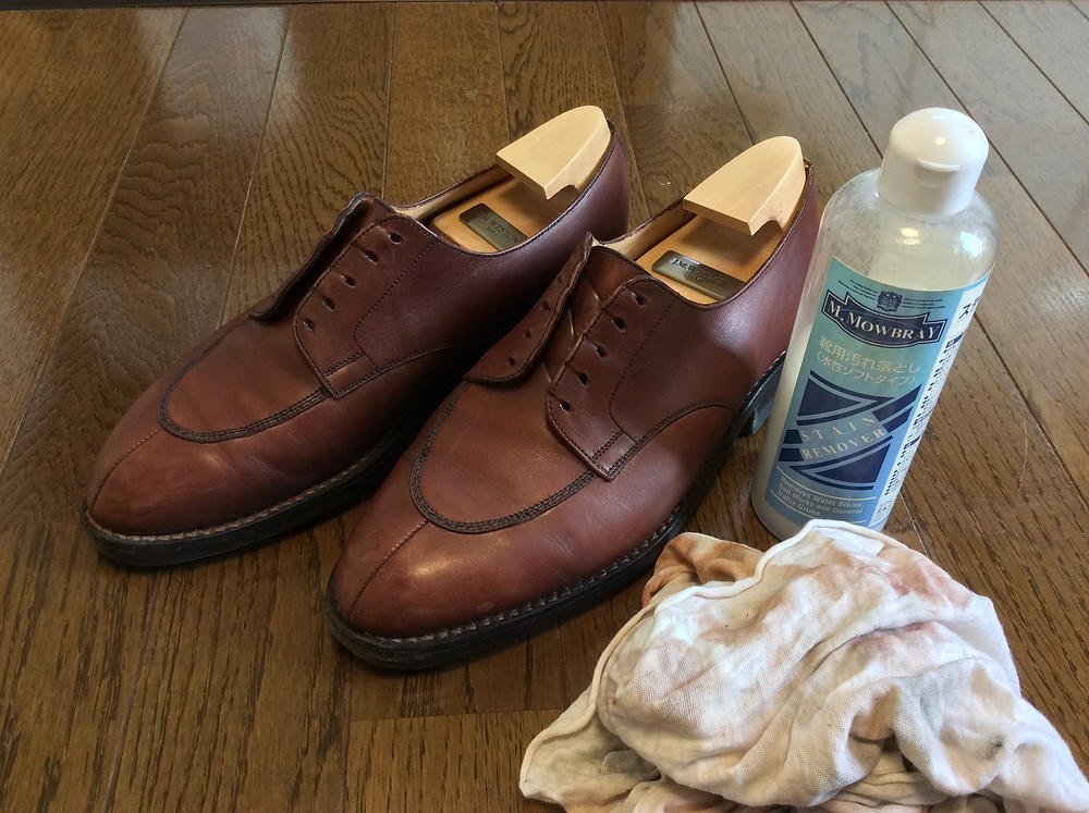 ボウタイ仕立屋流の靴磨き