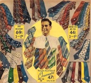 1930年代のネクタイ広告