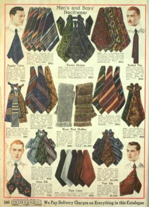 紳士用品店シンプソンズの広告(1918年)
