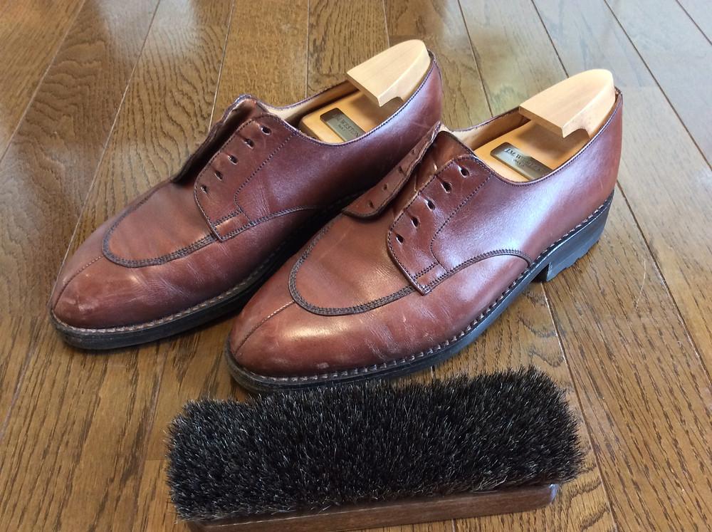 ボウタイ専門店のダイヤモンドヘイク流靴磨き