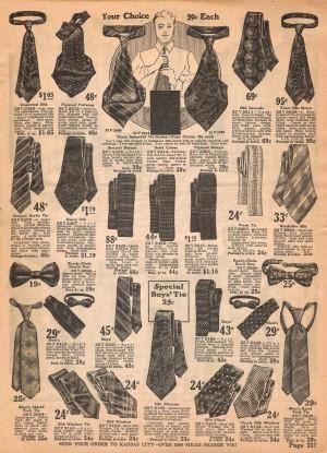 1922年のネクタイの広告