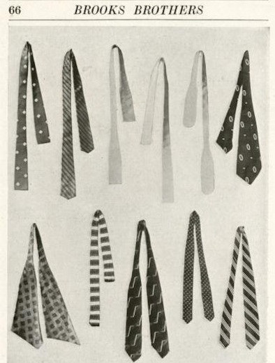 1911年のブルックス・ブラザーズのカタログ