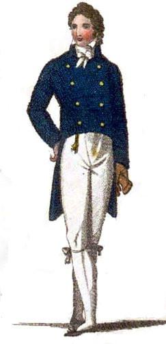 ブランメル時代の燕尾服イラスト