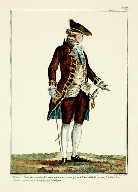 18世紀の上流貴族の服装イラスト