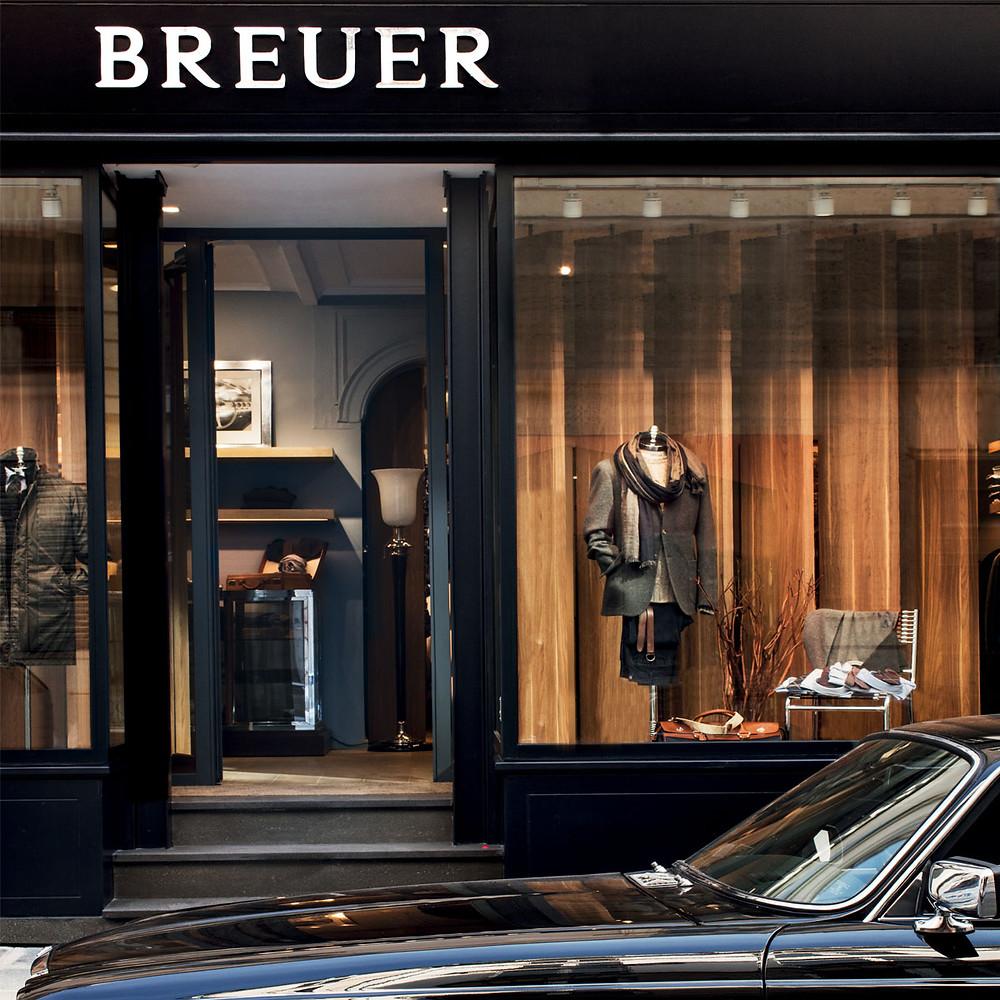 フランスのネクタイブランド、ブリューワーの店舗