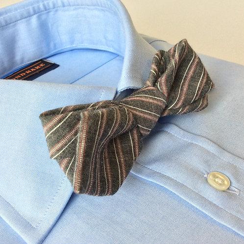 BOWTIE[Cotton&Linen,Slate Stripe]