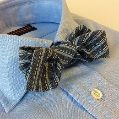 BOWTIE[Cotton&Linen,Blue Stripe]