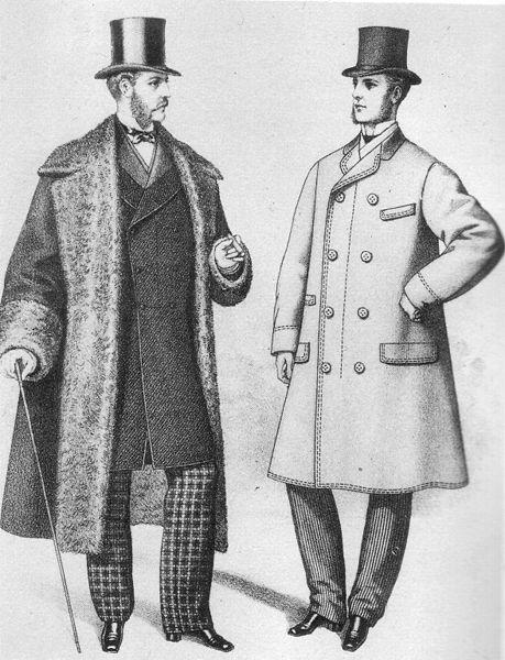 ヴィクトリア時代の男性の服装