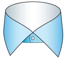 セミワイドのシャツの衿