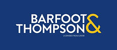Barfoot & Thompson Logo Stacked Negative