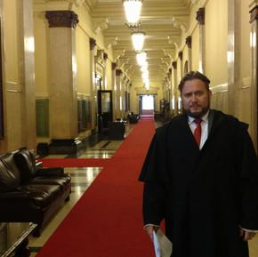 Criminalista Enio Pestana atuando no Tribunal do Estado