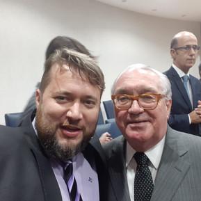Criminalista Enio Pestana com o presidente do Tribunal do Estado