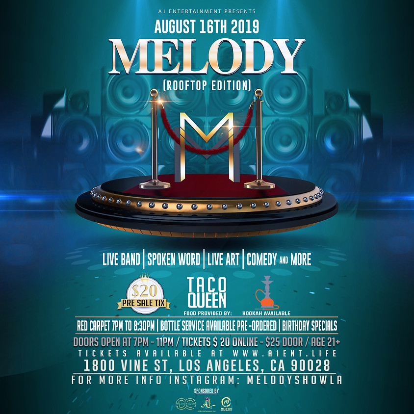 """Melody Show RoofTop Edition """"Hookah Nights"""""""