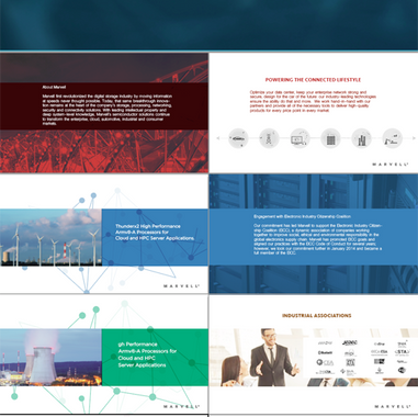 Marvell PowerPoint Presentation Concept
