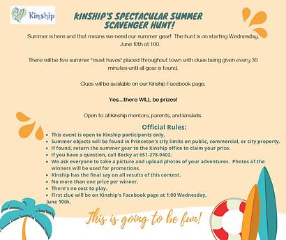 kinship's spectacular summer scavenger h